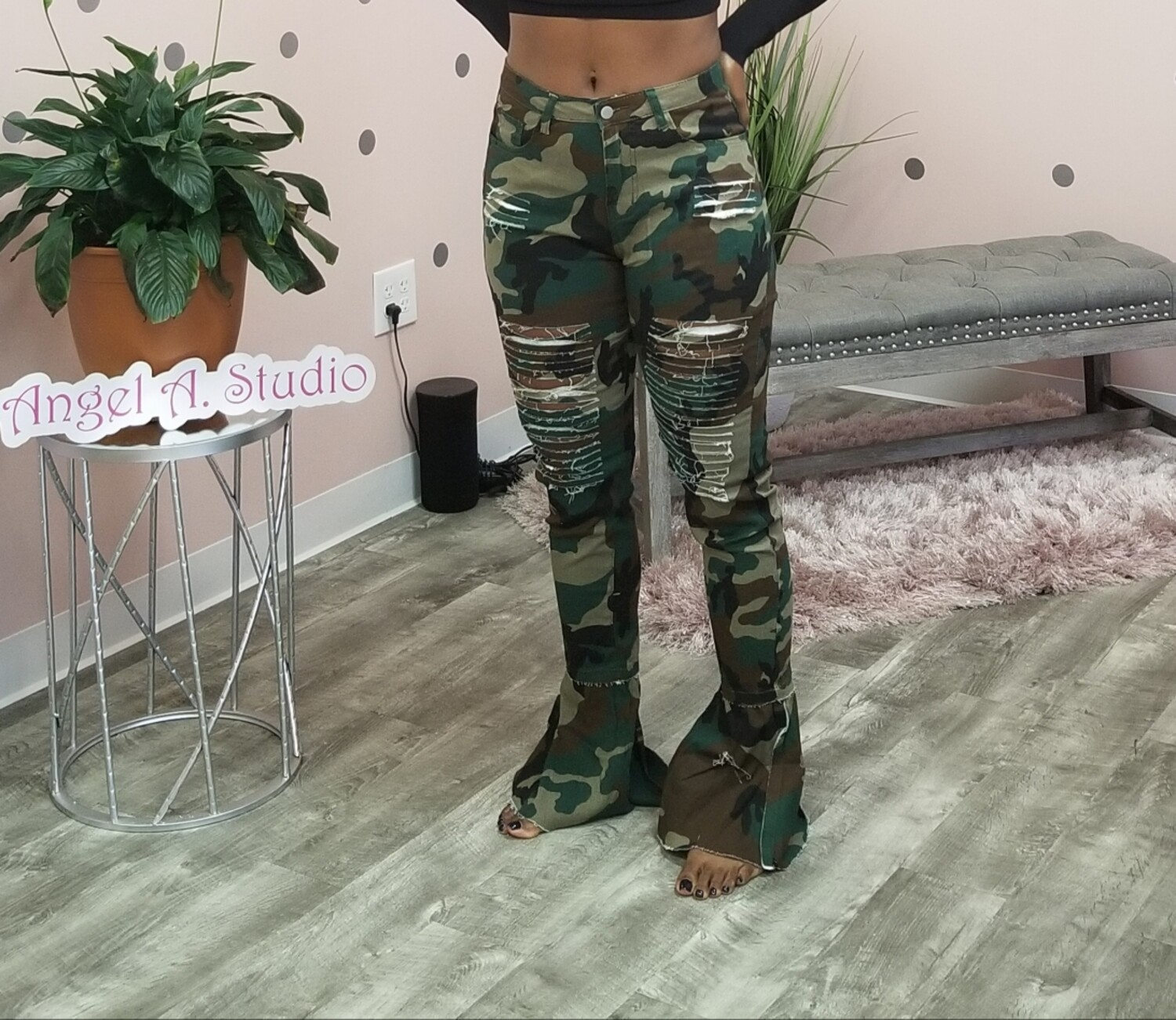Camo Bell Jeans