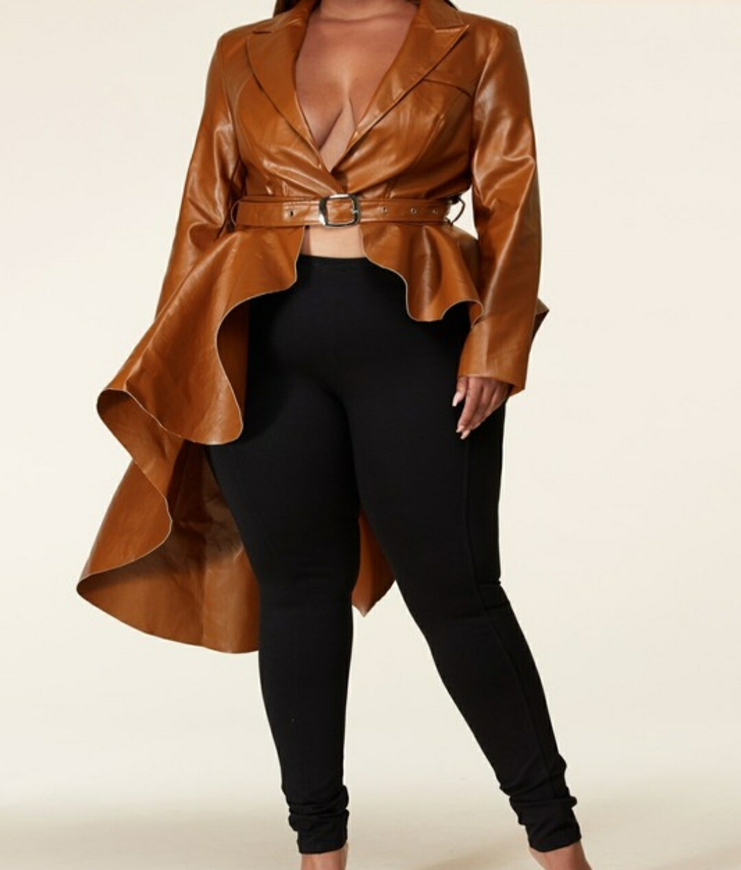 High Low Peplum Jacket