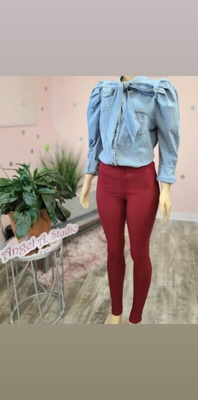 Burgundy Disco Pants