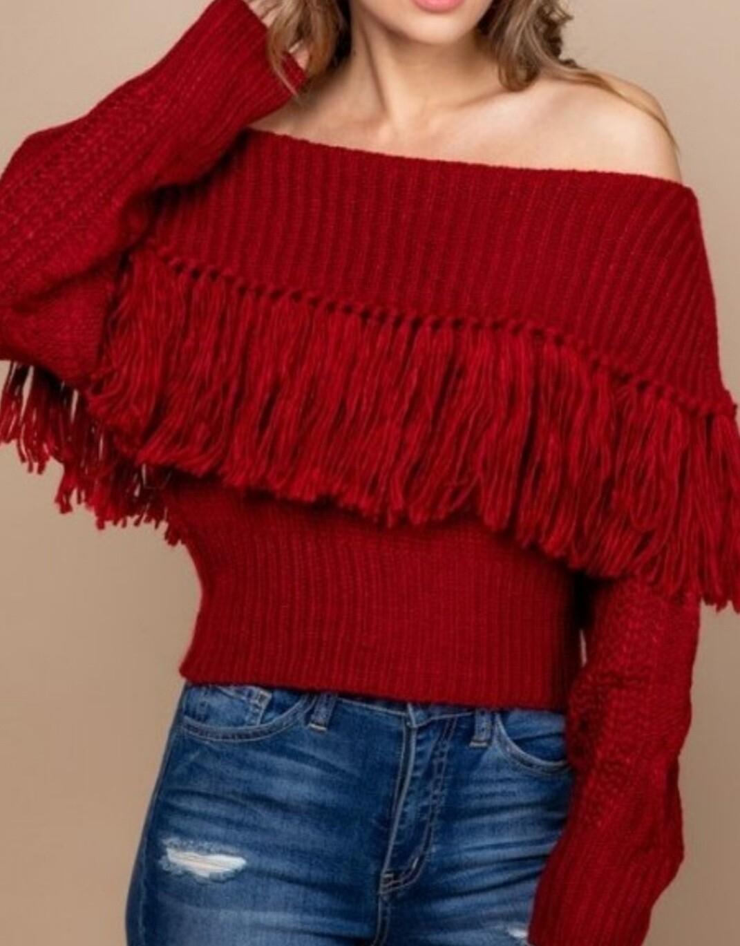 Fringe Knit Sweaters