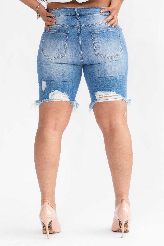 Distressed Deniim Shorts
