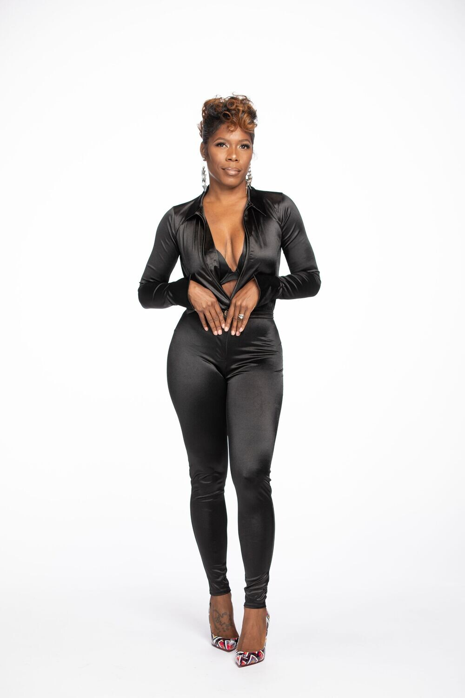 Deep V Bodysuit & Pants Set
