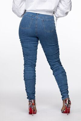 Medium Blue Ruched Jeans