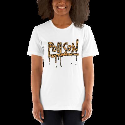 Poiison Cheetah Print Short-Sleeve Unisex T-Shirt