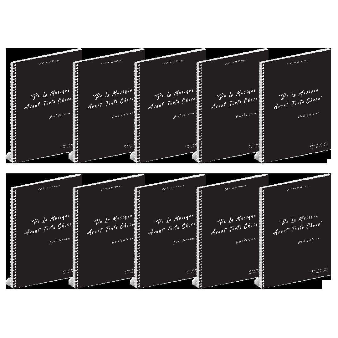Lot de 10 Cahiers de musique - Citations - 12 portées - 96 pages