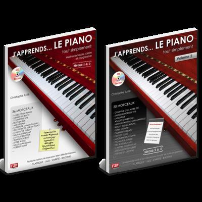Offre DUO - J'apprends LE PIANO tout simplement - Vol 1 + Vol 2