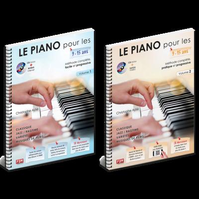 Offre DUO - LE PIANO pour les 9/15 Ans - Vol 1 + Vol 2