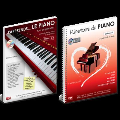 Offre DUO - J'apprends LE PIANO tout simplement - Vol 1 + Répertoire de PIANO - Vol 1