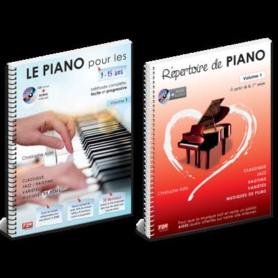 Offre DUO - LE PIANO pour les 9/15 Ans - Vol 1 + Répertoire de PIANO - Vol 1