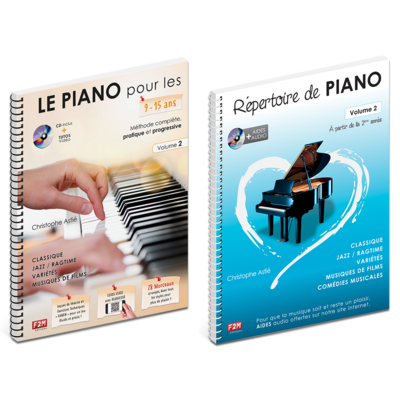 Offre DUO - LE PIANO pour les 9/15 Ans - Vol 2 + Répertoire de PIANO - Vol 2