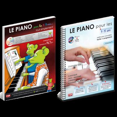 Offre DUO - LE PIANO pour les 5/8 Ans + LE PIANO pour les 9/15 Ans - Vol 1