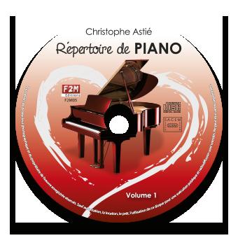 CD - Répertoire de PIANO - Vol 1