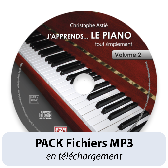 PACK Fichiers MP3 - J'apprends LE PIANO - Vol 2