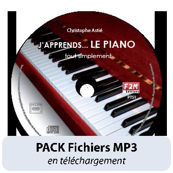 PACK Fichiers MP3 - J'apprends LE PIANO - Vol 1