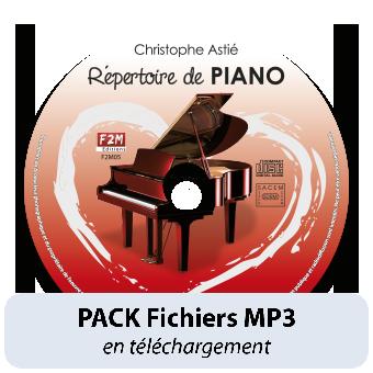 PACK Fichiers MP3 - Répertoire de PIANO - Vol 1
