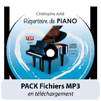 PACK Fichiers MP3 - Répertoire de PIANO - Vol 2