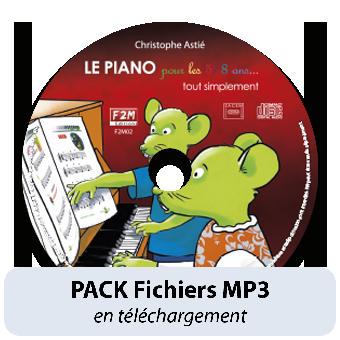 PACK Fichiers MP3 - LE PIANO pour les 5/8 ans