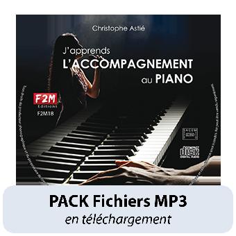 PACK Fichiers MP3 - J'apprends L'ACCOMPAGNEMENT AU PIANO