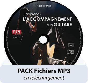 PACK Fichiers MP3 - J'apprends L'ACCOMPAGNEMENT A LA GUITARE