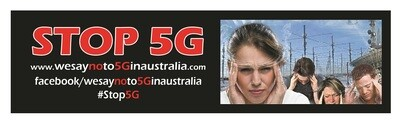 Stop 5G Bumper Sticker - Pack of 5