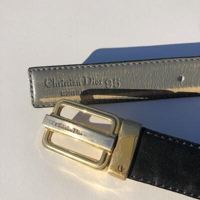 VINTAGE CHRISTIAN DIOR Reversible Belt
