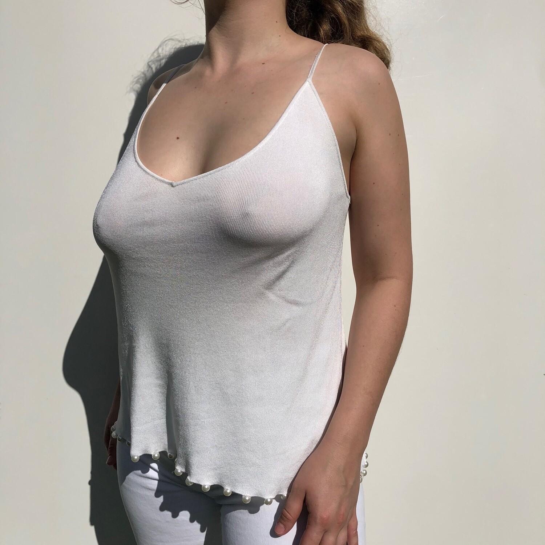 ZARA Singlet w/ Pearls: SIZE 8-12