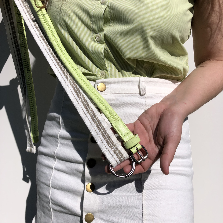 VINTAGE D-RING Canvas Belt: SIZE 6-14