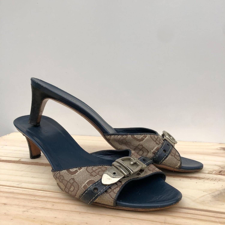 Vintage Gucci Kitten Heel Mules