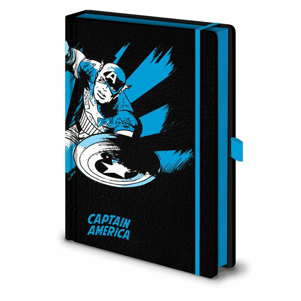 Marvel Hardback Embossed Notebook - Captain America