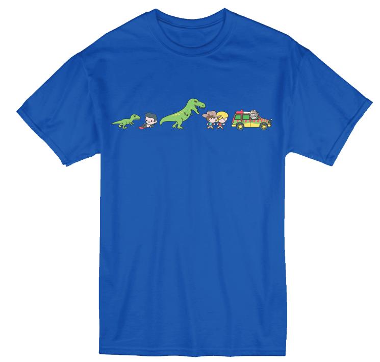 Jurassic Park 'Evolution' Print T-Shirt