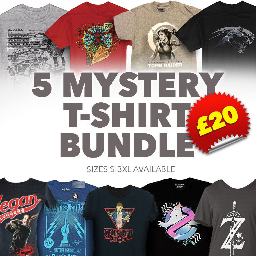 5 Mystery T Shirt Bundle