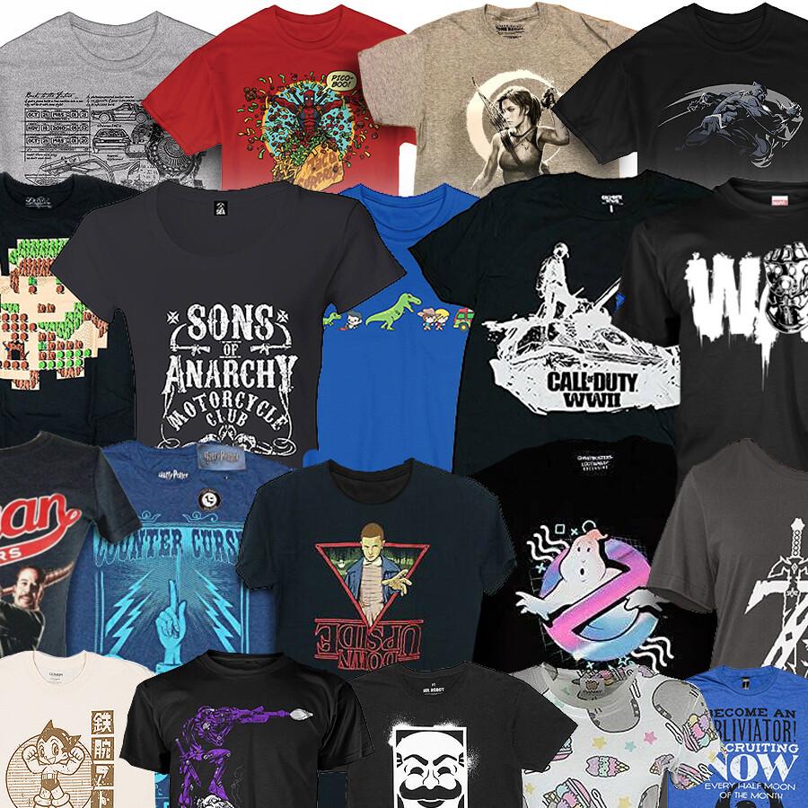 5 Mystery T Shirt Bundle