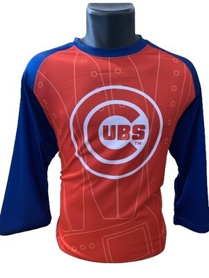 Chicago Cubs 3/4 Sleeved Baseball Top