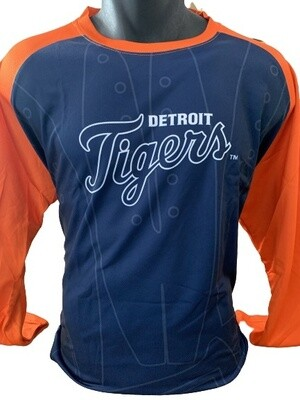Detroit Tigers 3/4 Sleeved Baseball Top