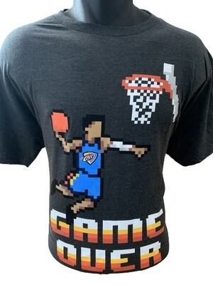 Oklahoma City Thunder Pixel 'Game Over' T-Shirt