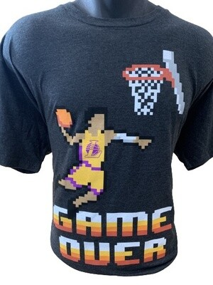 LA Lakers Pixel 'Game Over' T-Shirt