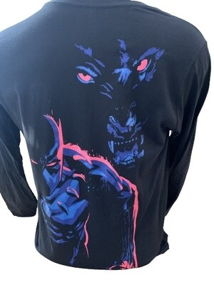 Marvel Black Panther Long-Sleeved with Back Print Top