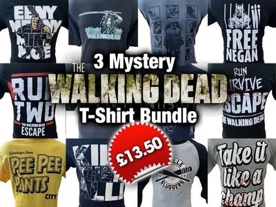 TWD - 3 Mystery Walking Dead T-Shirt Bundle