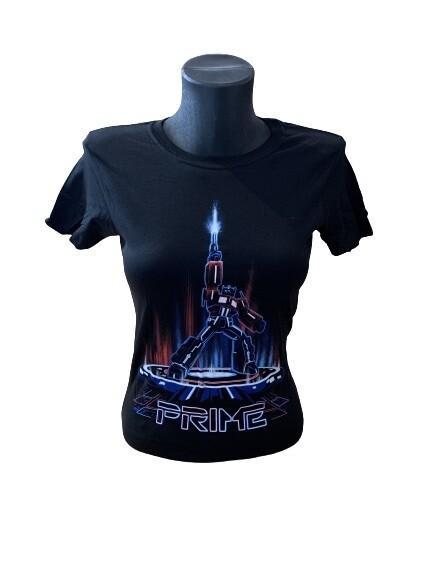 Ladies' Transformers Optimus Prime Tron Style T-Shirt