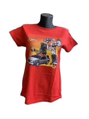 Ladies' BTTF vs Transformers 'Marty McPrime' T-Shirt