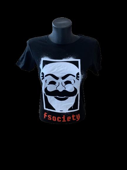 Ladies' Mr Robot 'F Society' T-Shirt