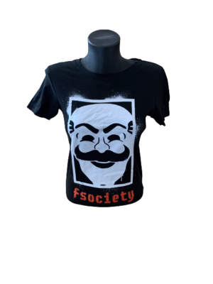 Ladies' Mr Robot 'F Society' T-Shirt