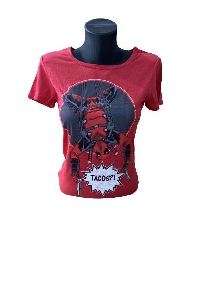Ladies' Marvel Deadpool 'Tacos' T-Shirt