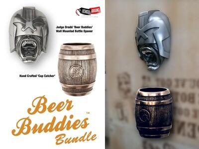 Judge Dredd 'Beer Buddies' Wall Mounted Bottle Opener PLUS Cap Catcher Bundle