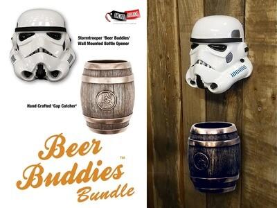 Stormtrooper 'Beer Buddies' Wall Mounted Bottle Opener + Cap Catcher Bundle