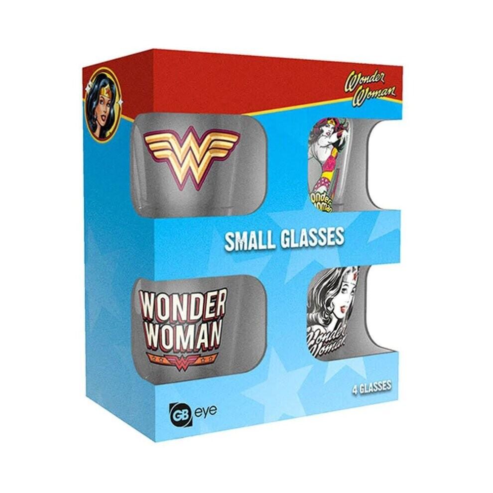 DC Wonder Woman 4 Pack Shot Glasses