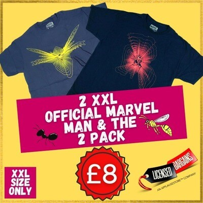 The 2 Pack Marvel Ant Man & The Wasp Deal - Size 2XL only!