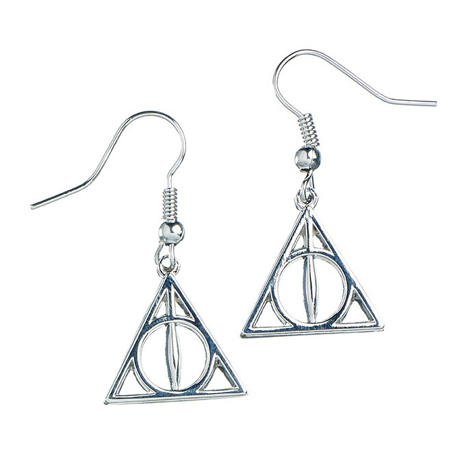 Harry Potter Silver Plated Deathly Hallows Earrings