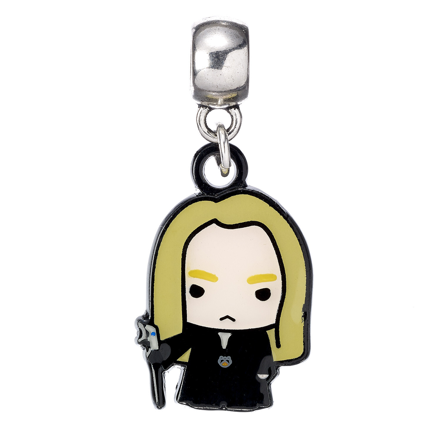 Harry Potter Lucius Malfoy Chibi Silver Plated Slider Charm (Pandora Compatible)