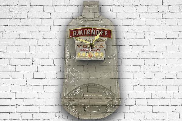 Re-Purposed Bottle Clocks - Smirnoff Vodka